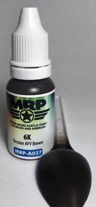 MRP/Mr Paint  MRP Aqua Paint Line 6K Russian AFV Brown 17ml MRPA027A