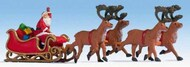 NOCH  HO Santa Claus w/Sleigh & 4 Reindeer NOC15924