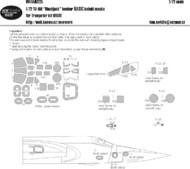 New Ware  1/72 Tupolev Tu-160 Blackjack BASIC kabuki maskswindows, lights, grey panels (designed to be used with Trumpeter kits) NWAM0225
