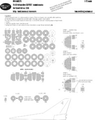 New Ware  1/72 Tuploev Tu-22M Backfire C EXPERT kabuki masks windows including seals and inner side masks, wheels, white panels (designed to be used with Italeri IT1238 kits) NWAM0275