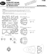 New Ware  1/72 Lockheed S-3A Viking VS-28 EXPERT kabuki masks windows including inner sides, wheels, compressors (designed to be used with Hasegawa HAE07 kits) NWAM0277