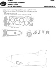 New Ware  1/32 North-American P-51D-5NA Mustang BASIC kabuki masks NWAM0353