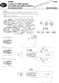 New Ware  1/72 BAC/EE Lightning F.2A, F.6 EXPERT kabuki masks aircraft canopy including seal and windows inner side masks, all wheels, camouflage details (designed to be use with Airfix kits) NWAM0476