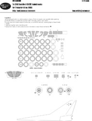 New Ware  1/72 Tupolev Tu-22M2 Backfire B BASIC kabuki masks windows and all other clear parts, wheels, camouflage details (designed to be use with Trumpeter kits) NWAM0480