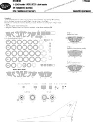 New Ware  1/72 Tupolev Tu-22M2 Backfire B ADVANCED kabuki masks windows including windshield seal masks, all other clear parts, wheels, camouflage details (designed to be use with Trumpeter kits) NWAM0481