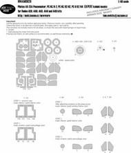 Pilatus UA-23A Peacemaker, PC-6C/H2, PC-6C/B2-H2, PC-6C B2/H4 EXPERT kabuki masks #NWAM0626