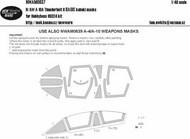 Fairchild A-10A  Thunderbolt II BASIC kabuki masks #NWAM0637