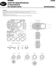 Lockheed P-38F/G Lightning BASIC kabuki masks #NWAM0660