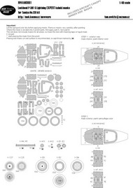 Lockheed P-38F/G Lightning EXPERT kabuki masks #NWAM0661