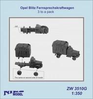 Niko Models  1/350 Opel Blitz Fernsprechskraftwagen (3 to a pack) ZW3510G