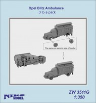 Niko Models  1/350 Opel Blitz Ambulance (3 to a pack) ZW3511G