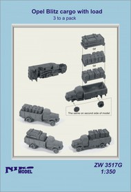 Niko Models  1/350 Opel Blitz cargo with load (3 to a pack) ZW3517X