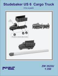 Niko Models  1/350 Studebaker U.S. 6 Cargo Truck (3 to a pack) ZW3523U