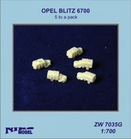 Niko Models  1/700 OPEL BLITZ 6700 (5 to a pack) ZW7035G