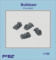 Niko Models  1/700 Bulldozer (4 to a pack) ZW7039X