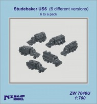 Niko Models  1/700 Studebaker US6 (6 different versions)- 6 to a pack ZW7040U