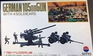 Nitto  1/76 Collection -  German 105mm Flak Gun with Trailers NIT76004