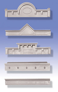 O GAUGE RAILROADING  O Kitbashing: Cornices (5 Diff) OGR32
