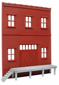 O GAUGE RAILROADING  O Ameri-Towne: Factory Side Wall w/Loading Dock OGR41