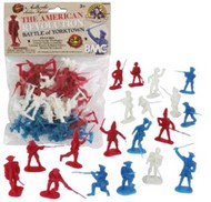 Playsets  54mm American Revolution Battle of Yorktown Figure Playset (34pcs) (Bagged) (BMC Toys) PYS40023