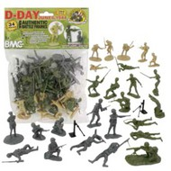 Playsets  54mm D-Day Invasion of Normandy Figure Playset (34pcs) (Bagged) (BMC Toys) PYS40024