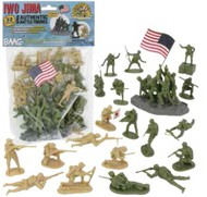 Playsets  54mm Iwo Jima Figure Playset (Olive/Tan) (32pcs) (Bagged) (BMC Toys) PYS40032