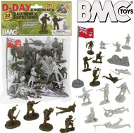 Playsets  54mm D-Day Juno Beach German & Canadian Figure Playset (Olive/Tan) (33pcs) (Bagged) (BMC Toys) PYS40033