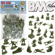 Playsets  54mm Iwo Jima US Marines Figure Playset (Olive) (36pcs) (Bagged) (BMC Toys) PYS40034