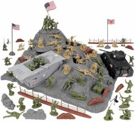Playsets  54mm Iwo Jima US Marines & Japanese Diorama Playset (Olive/Tan) (72pcs) (Boxed) (BMC Toys) PYS40036