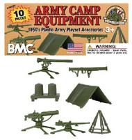 Army Camp Equipment Playset (10pcs) (Bagged) (BMC Toys) #PYS48583