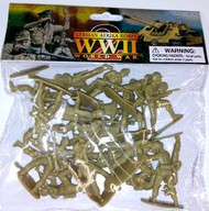 Playsets  1/32 WWII German Afrika Corps Figures (20 Tan) (Bagged) PYS49