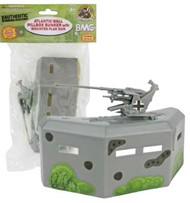 Playsets  54mm 54mm Bunker w/Gun (Grey) (BMC Toys) PYS49997