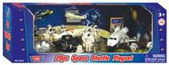 Playsets  54mm 54mm Space Shuttle w/Astronauts, Moon Buggy etc. (20pcs) (Plastic w/Die Cast Acc) (MotorMax) PYS76324