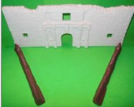 Playsets  54mm 54mm Alamo Fort Facade w/Support Sections (Bagged) (Americana) PYS98571