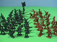 Playsets  54mm 54mm Alamo Texian Soliders & Mexican Troops Figure Playset (50pcs) (Bagged) (Americana) PYS98573