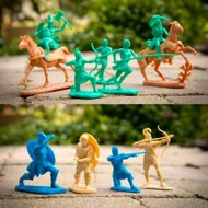 Playsets  1/32 The War At Troy Amazons, Aeneas, Ajax & Horses Playset (14) (Bagged) (LOD Enterprises) PYSL19