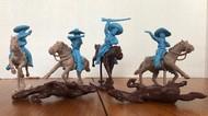 Mexican Bandits Mounted Figure Playset (8) (Bagged) (LOD Enterprises) #PYSL21