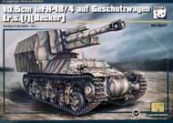 10.5cm leFH18/4 LrS(f) Becker Heavy Gun on Geschutzwagen Tank (New Tool) #PDA35037