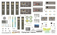Paragrafix Modeling Systems  1/32 Voyage to the Bottom of the Sea: Flying Sub Interior Decal Set for MOE PGX115