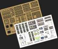Paragrafix Modeling Systems  1/32 Voyage to the Bottom of the Sea: Flying Sub Interior Photo-Etch & Decal Set for MOE PGX117