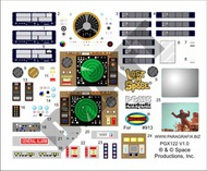 Paragrafix Modeling Systems  1/35 LiS: Jupiter 2 Spaceship Stock Interior Decal Set for MOE PGX122