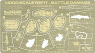 Paragrafix Modeling Systems  1/1000  Star Trek: USS Enterprise Refit Battle Damage Photo-Etch Set for PLL (D)<!-- _Disc_ --> PGX131