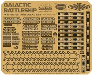 Paragrafix Modeling Systems  1/4105 Battlestar Galactica: BS75 Spaceship Super Photo-Etch & Decal Set for MOE PGX133