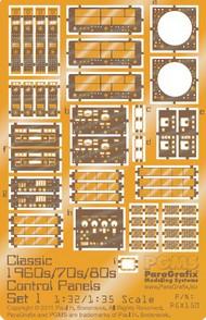 Paragrafix Modeling Systems  1/32 1/32-1/35 Classic 1960's, 70's, 80's Control Panels Photo-Etch Set #1 (D)<!-- _Disc_ --> PGX150