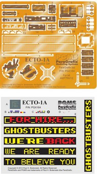 Paragrafix Modeling Systems  1/25 Ghostbuster 2 Ecto1A Photo-Etch Set for AMT PGX164