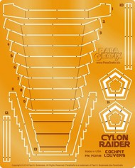Paragrafix Modeling Systems  1/32 Battlestar Galactica: Cylon Raider Cockpit Louvers Photo-Etch Set for MOE PGX186