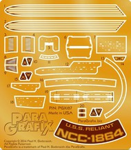 Paragrafix Modeling Systems  1/1000 Star Trek: USS Reliant NCC1864 Photo-Etch Set for PLL PGX187