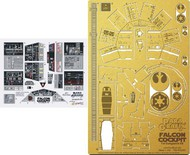 Paragrafix Modeling Systems  1/43 DeAgostini Millennium Falcon Cockpit Photo-Etch & Decal Set PGX193