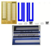 Paragrafix Modeling Systems  1/43 DeAgostini Millennium Falcon Engine Grill Photo-Etch & Backlighting Film Blue/White Set PGX204