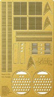 Paragrafix Modeling Systems  1/350 Star Trek The Original Series: USS Enterprise Engine Grills Photo-Etch Set for PLL PGX208